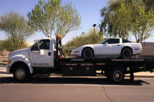 Car-On-Flatbed-Tow-Truck
